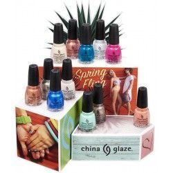 China Glaze Kit Spring Fling 12 und. x 14 ml.